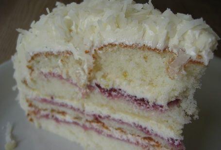 raspberry coconut dream cake