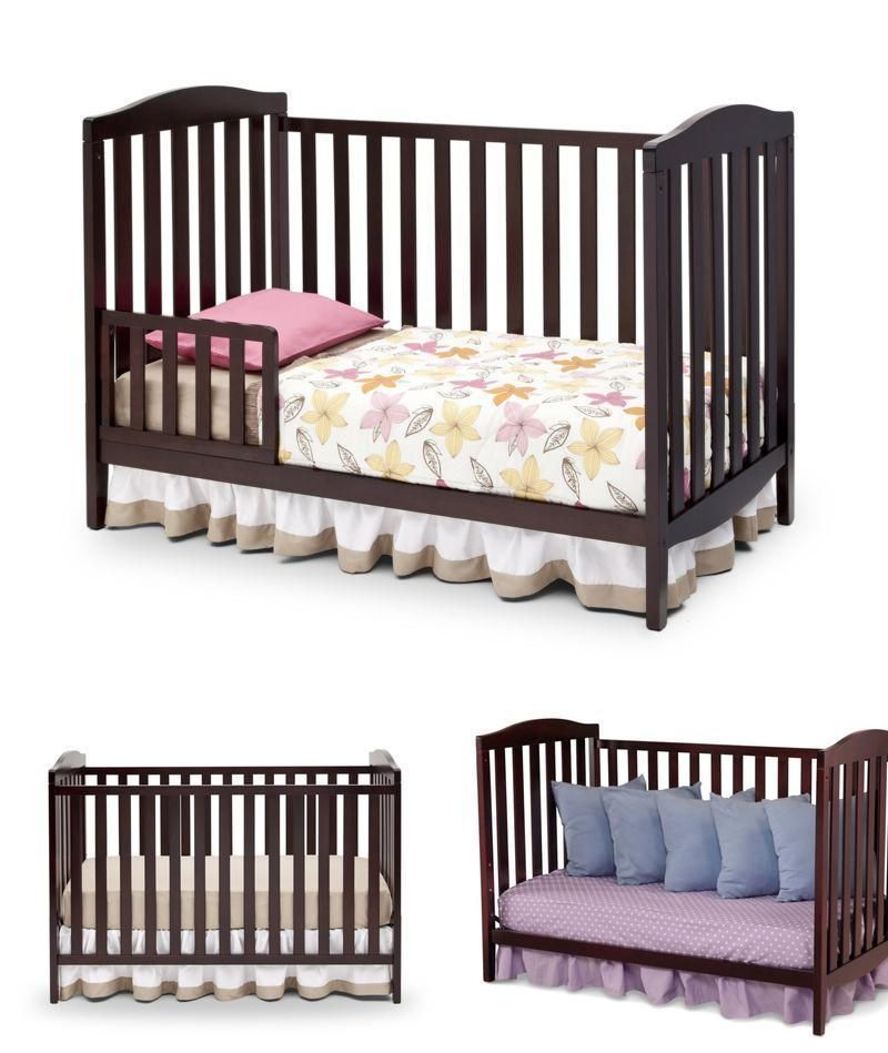 3 In 1 Baby Crib Toddler Children Bed Three Position Height
