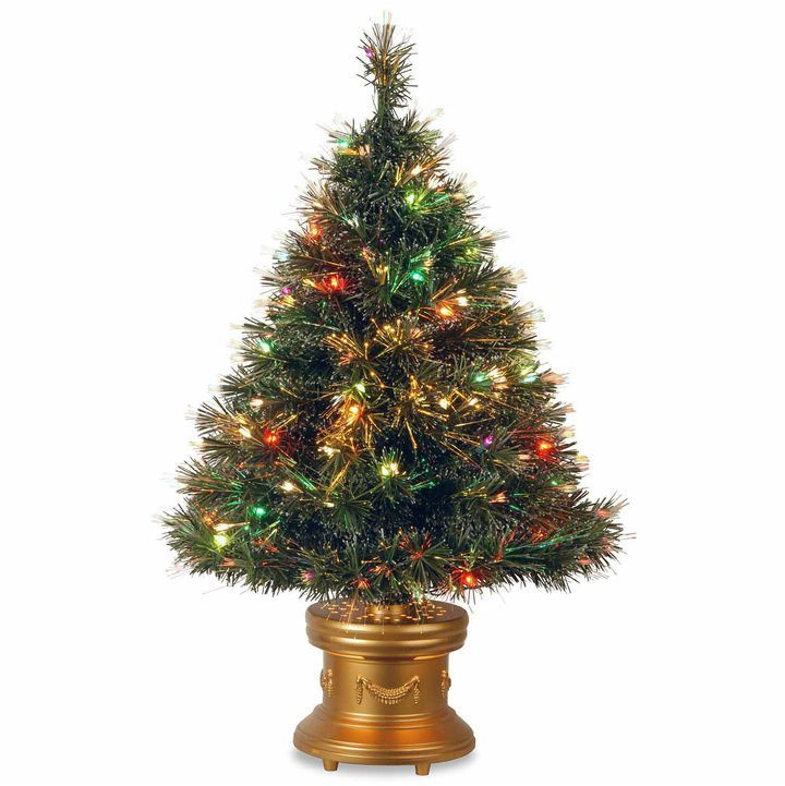 NATIONAL TREE CO National Tree Co 3 Foot Ice Revolving-Led Base Pre