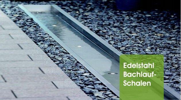 edelstahl bachlaufschalen | garten | pinterest | bachlaufschalen ... - Wasserspiele Im Garten Edelstahl
