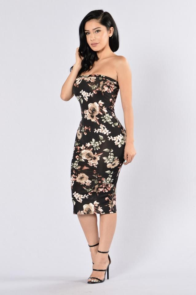 42b41bad4a Flowers In Bloom Tube Dress - Black Multi. Find this Pin and more on Women s  Fashion ...