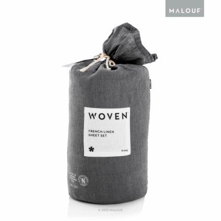 Buy Woven French Linen Sheet Set with Vintage Wash at Walmart.com