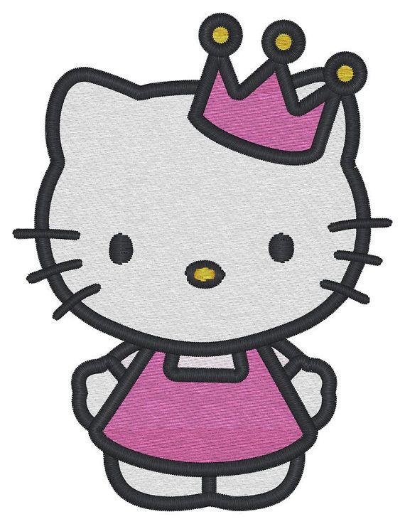 3e4102421 Hello Kitty (Princess Full Body) Embroidery Design   Hello Kitty ...