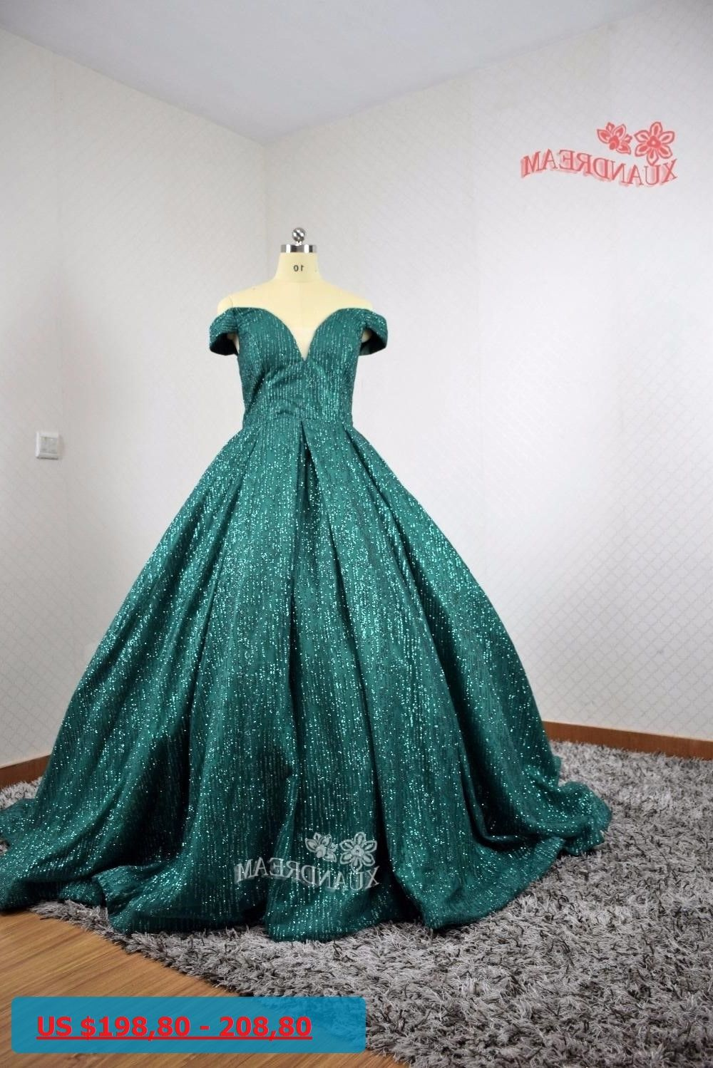 real made xuandream bling bling evening gown robe de soiree