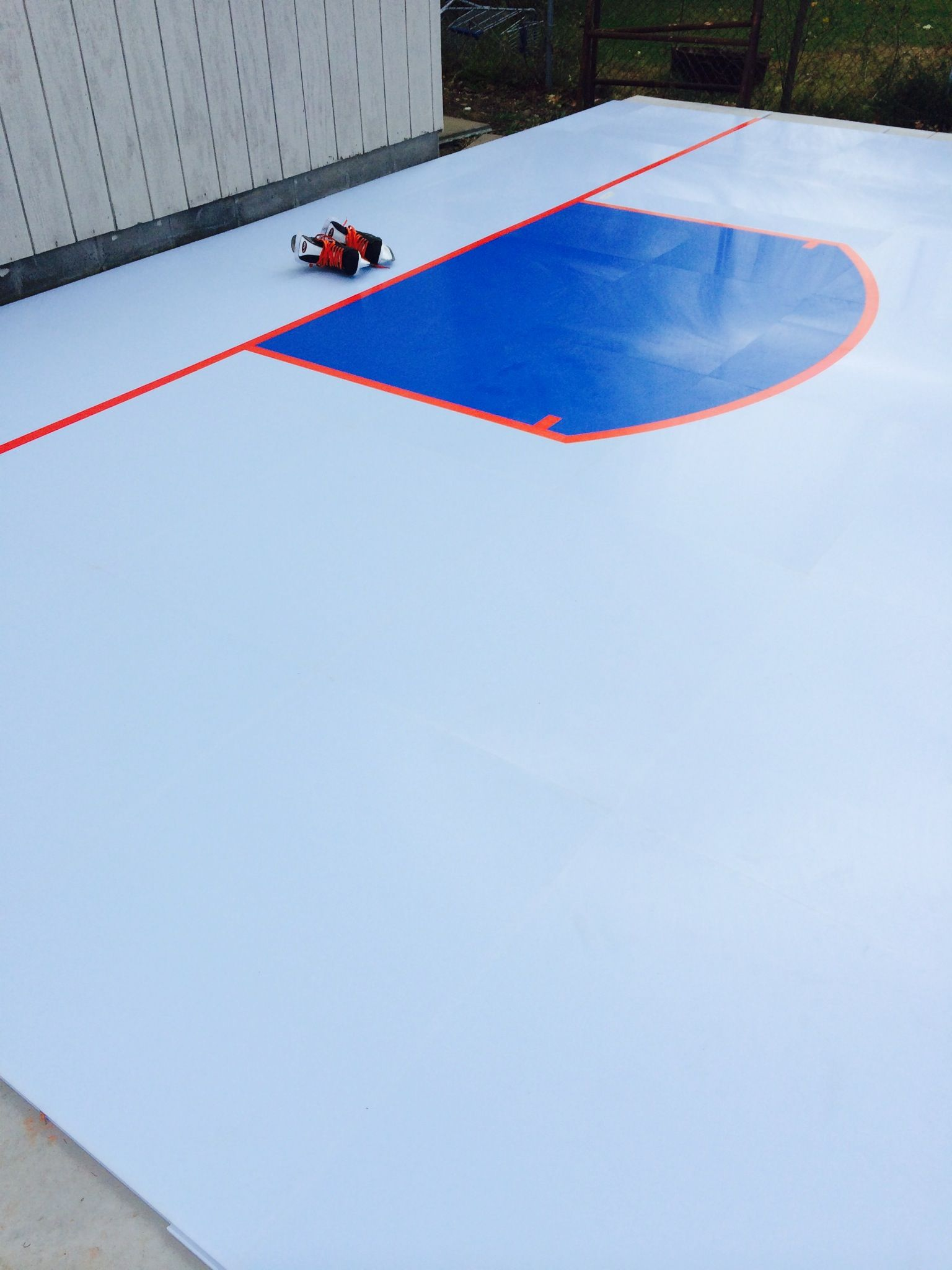 The SmartRink Synthetic Ice Goal Crease. Ice RinkBackyard BusinessHockeyProjects