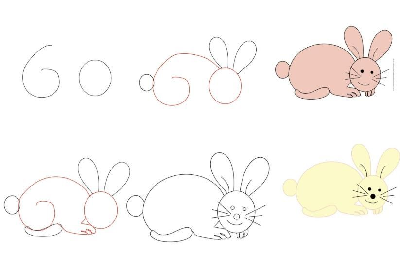 Cara Menggambar Kelinci Yang Mudah Untuk Pemula Gambar Kelinci Cara Menggambar Gambar