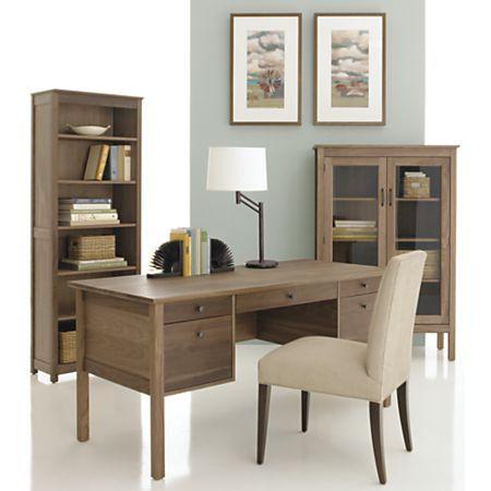 Ainsworth Walnut Desk In Desks Crate Barrel Walnut Desks Modern Home Office Desk Walnut Bookcase