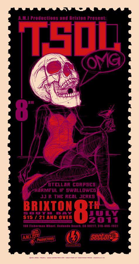 The art of Jeral Tidwell | Artwork » Rock Posters