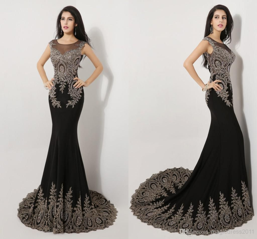 elegant long prom evening dresses in stock mermaid crew