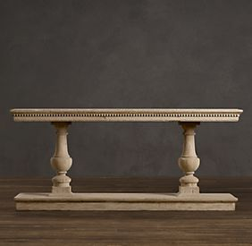 15th c dual baluster oak console restoration hardware furnishings tables consoles - Restoration hardware entry table ...