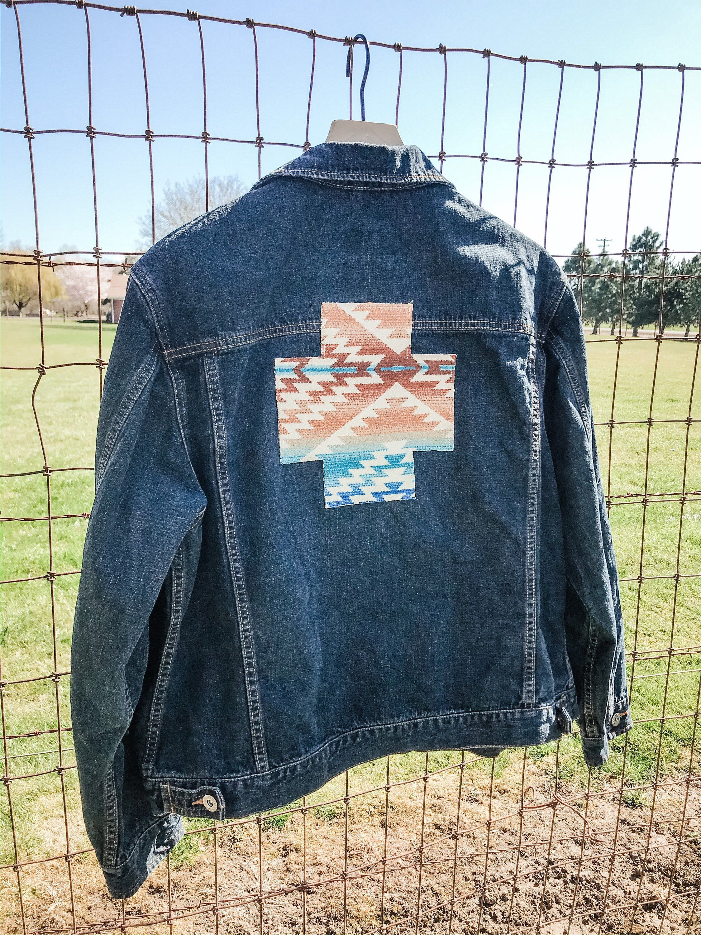 Excited To Share This Item From My Etsy Shop Jean Jacket With Pendleton Wool Swiss Cross Back Patch Pendleton Pendleton Fabric Pendleton Wool [ 3000 x 2250 Pixel ]