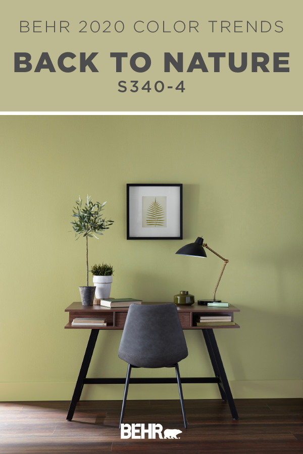 The Behr 2020 Color Of The Year Back To Nature Is A Restorative And Revitalizing Green That Engages The Behr Paint Colors Paint Colors For Home Behr Colors