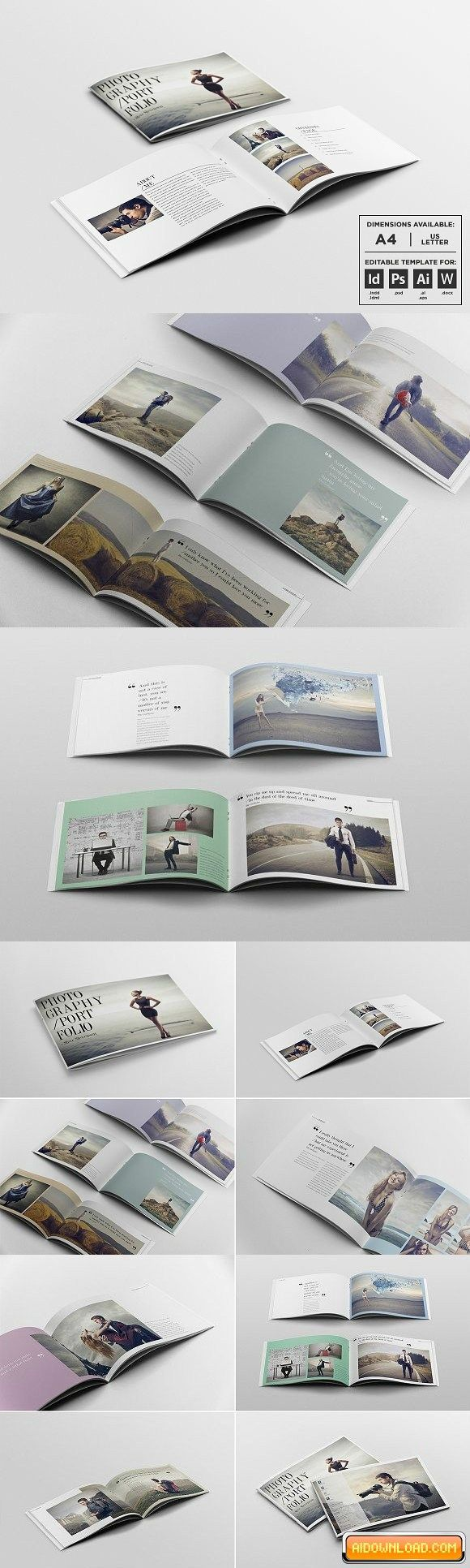 Photography Portfolio Template Free Download | Free Graphic ...