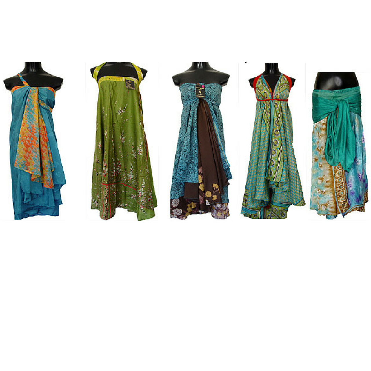 c72eed8f5c69 SURPRISE ME: Sari Silk Wrap Skirts: Plus, Regular, Short, Little Girl and  Maternity (go to site for recycled sari silk yarn)