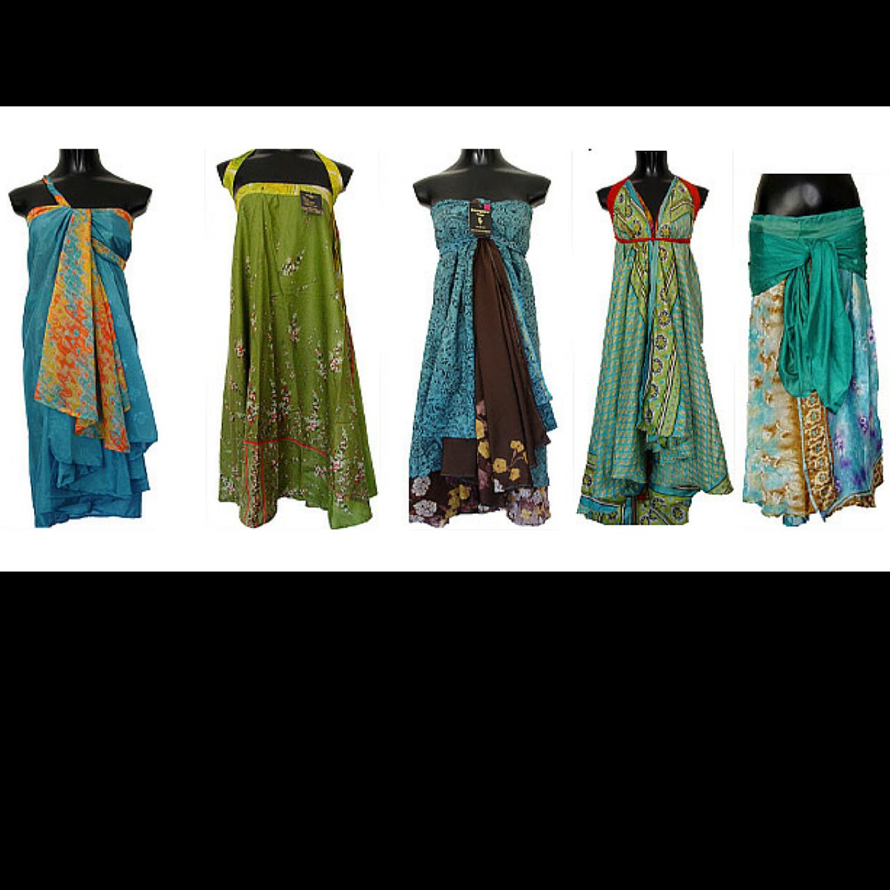 Vintage Silk Sari Skirt,Maxi,Short Dress Printed Boho Gypsy Recycled bohemian clothing Women skirts maxi skirt One Piece Dress Party Dress