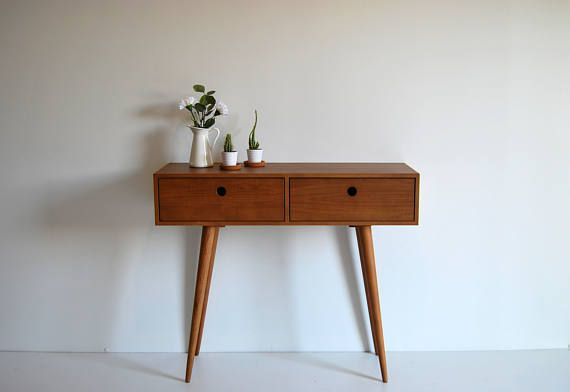 Moderrn Mid Century Dressing Table Console Sideboard With Etsy In 2020 Mid Century Dressing Table Dressing Table Dark Wood Scandinavian Dressing Tables