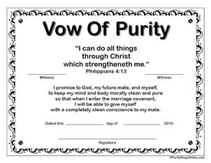 Free Printable Purity Certificates For Guys Amp Girls