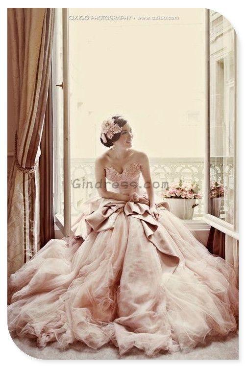 Pale Pink Wedding Gowns Statement Maker Www