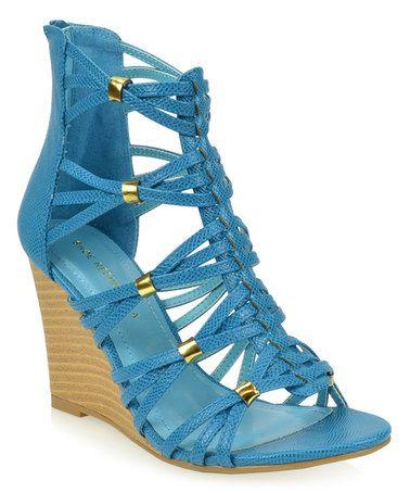 $19.99 Look at this #zulilyfind! Blue Taken Sandal #zulilyfinds