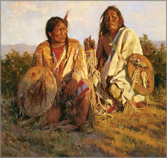 terpening howard | Howard Terpning - Medicine Shields of the Blackfoot: Terpning