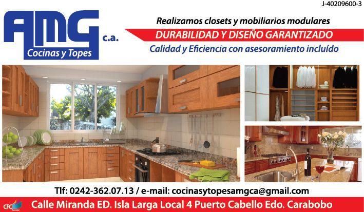 Amg Cocinas Y Topes Somos Fabricantes De Closets Y Mobiliario