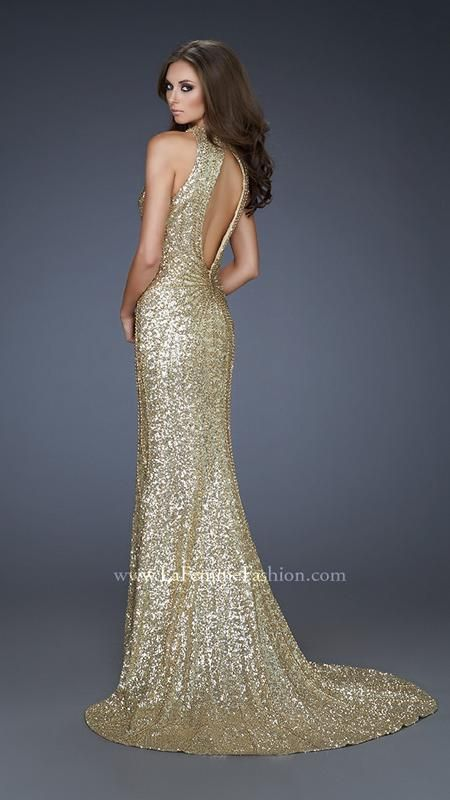 Gold Keyhole Back Gown So Elegant Formal Wear Pinterest La