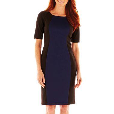 51a1dfa24c 9   Co.® 3 4-Sleeve Colorblock Dress - jcpenney