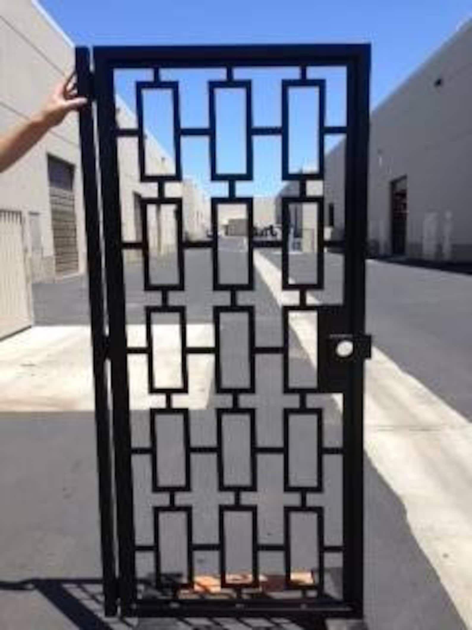 Contemporary gateModern Metal Gate  Custom Art Pedestrian | …
