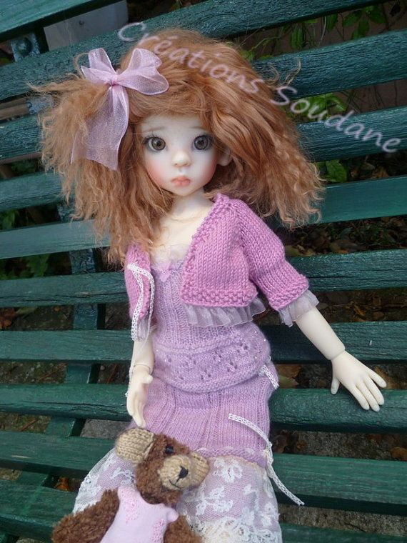 52 English And French Instant Download Pdf Knitting Pattern Msd Bjd