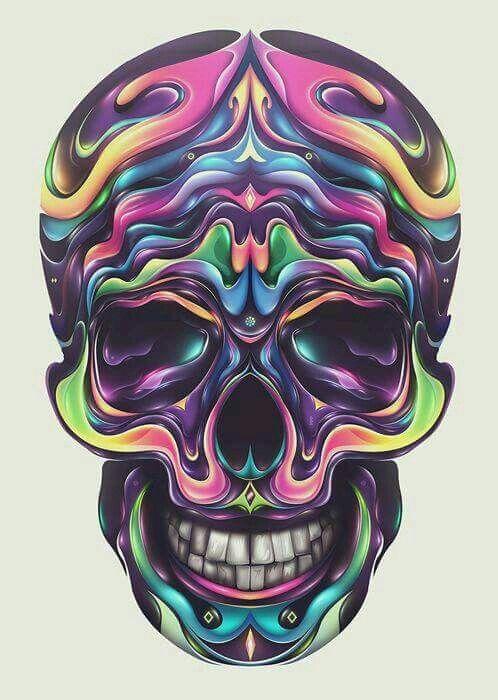 Colors Kบℓℓร Pinterest Skull Art Skull And Skull Pictures
