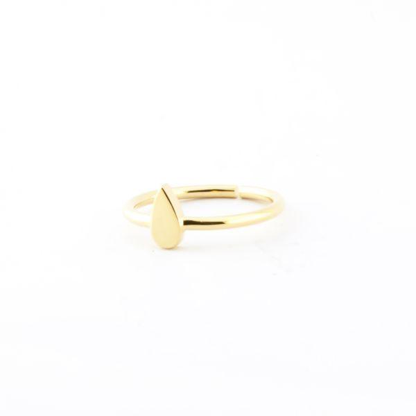 anillo midi gota 15,00 € Anillo de latón y baño dorado con diseño de gota.  Ligeramente ajustable.  Talla por defecto: 12  Cuidados: evita e...