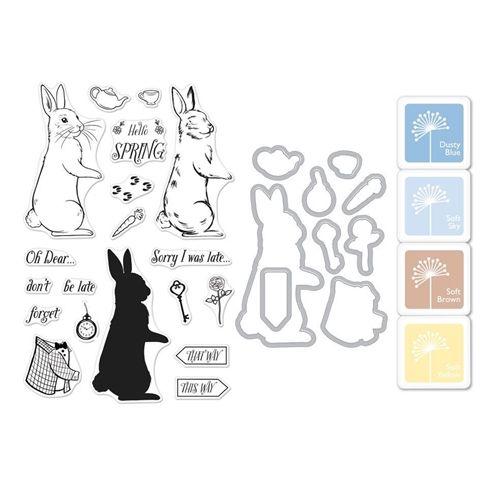 Hero Arts CM227 Clear Stamp Set Color Layering Rabbit 4 x 6