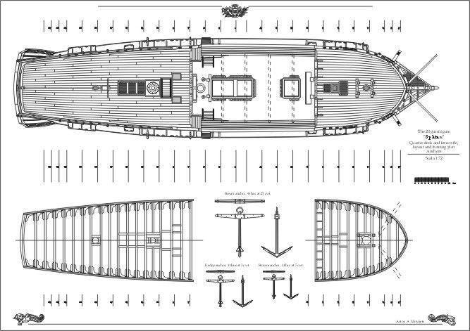 The plans of 20 gun Ship HMS Sphynx, a Royal Navy frigate ...