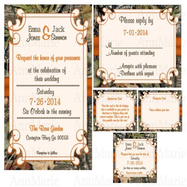 awesome 11 mossy oak camo wedding invitations | Wedding Ideas ...