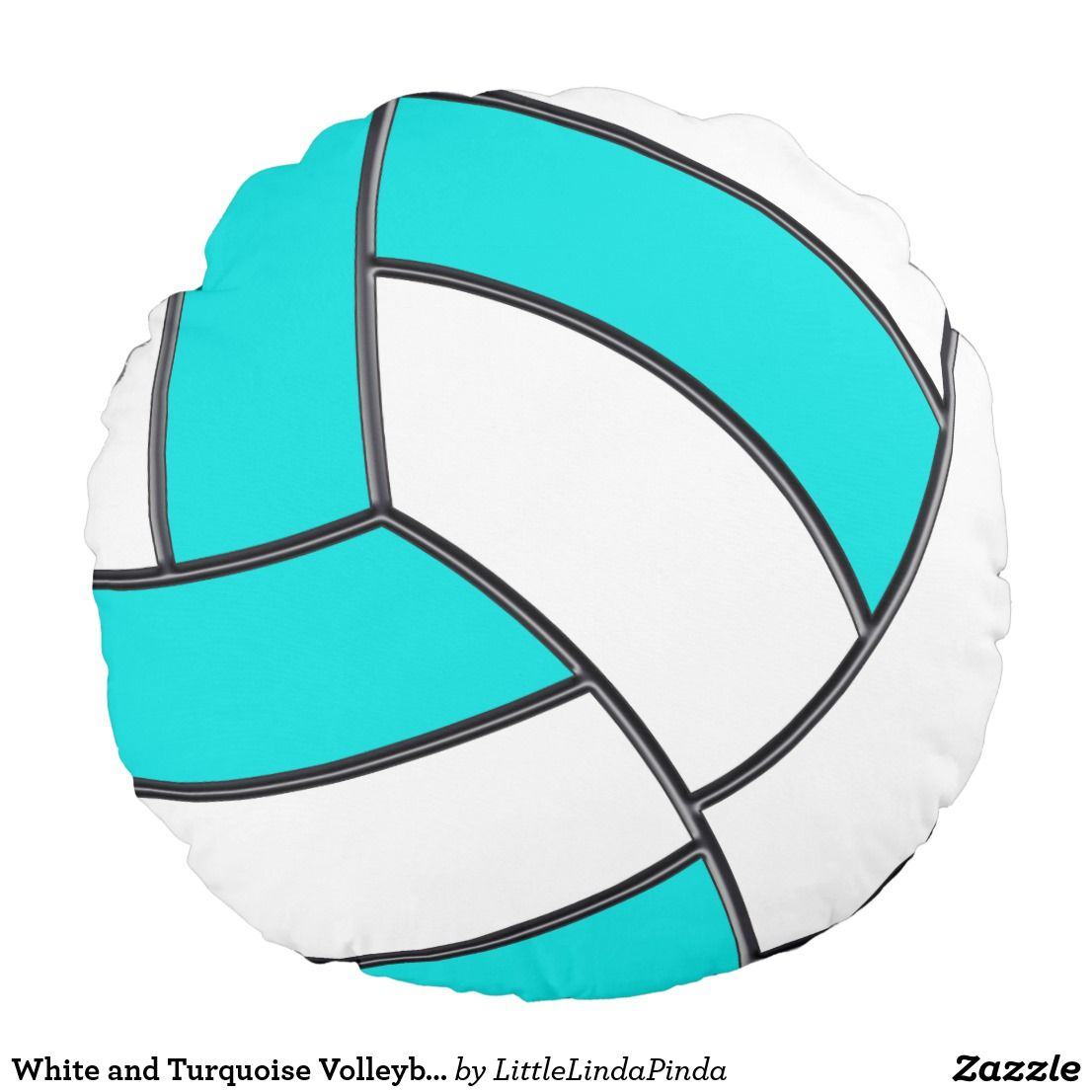 White And Turquoise Volleyball Pillow Change Color Zazzle Com In 2020 Volleyball Volleyball Gifts Color Change