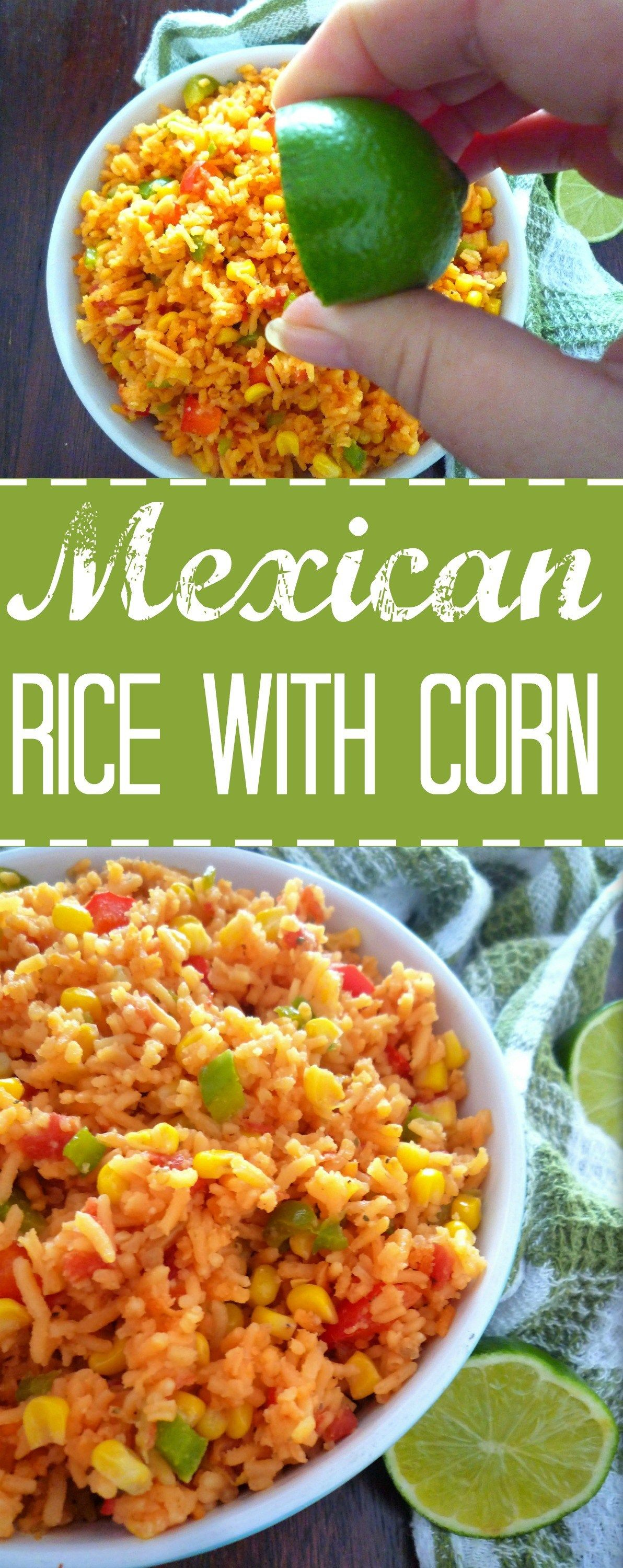 Mexican Rice with Corn #seasonedricerecipes
