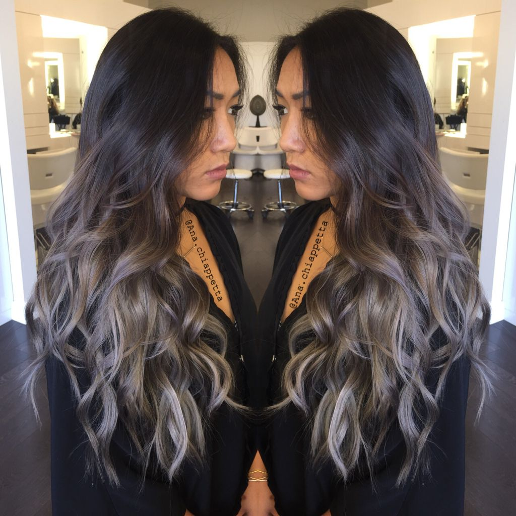 Silver Hair Grey Hair Balayage Ombre Sombre Blue Grey