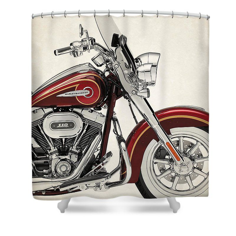 Harley Motorcycles Shower Curtain Featuring The Photograph Harley Davidson Cvo Softail Deluxe 2014b With Images Harley Davidson Cvo Harley Davidson Posters Softail Deluxe
