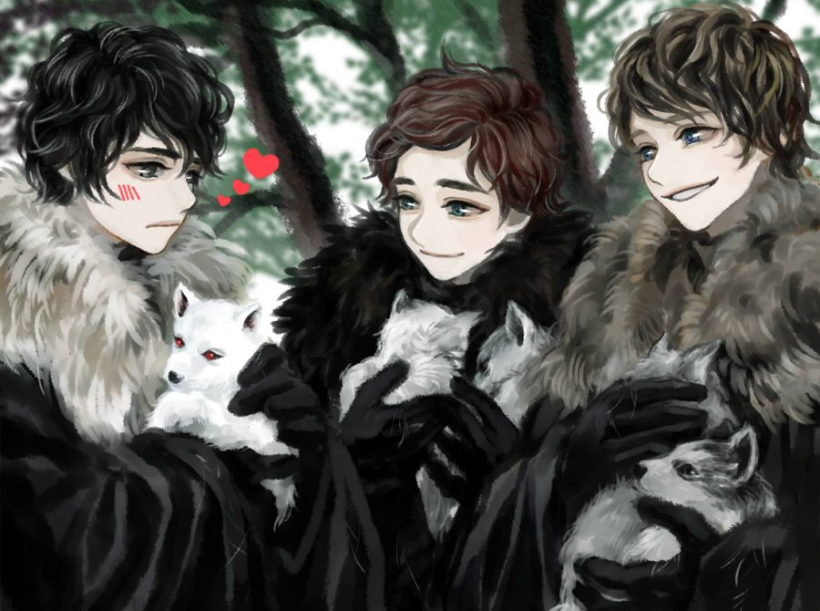 Dire Puppies With Images Robb Stark Fanart Game Of Thrones