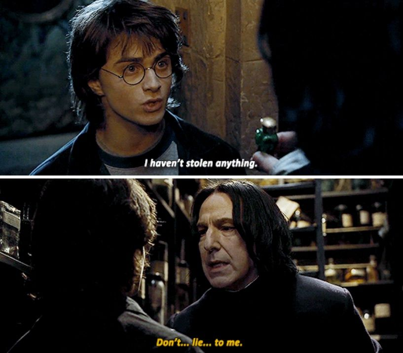 Harry Potter And Severus Snape Don T Pause Lie Pause To Me Snape Harry Potter Harry Potter Universal Harry Potter Movies