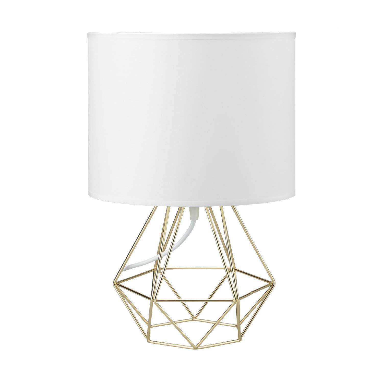 Modern Vintage Style Table Lamps Frideko Ecopower Minimalist Bedside Lamp Night Light Hollowed Out Cage In 2020 Vintage Style Table Lamps Fabric Shades Vintage Lamps