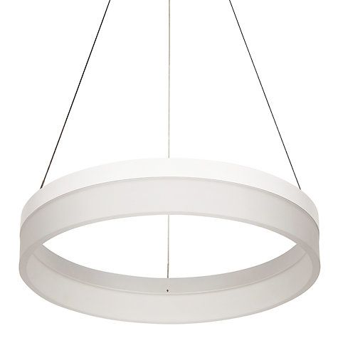 John Lewis Partners Magnus Led Hoop Pendant Ceiling Light White Ceiling Pendant Lights Ceiling Lights Led Hoops