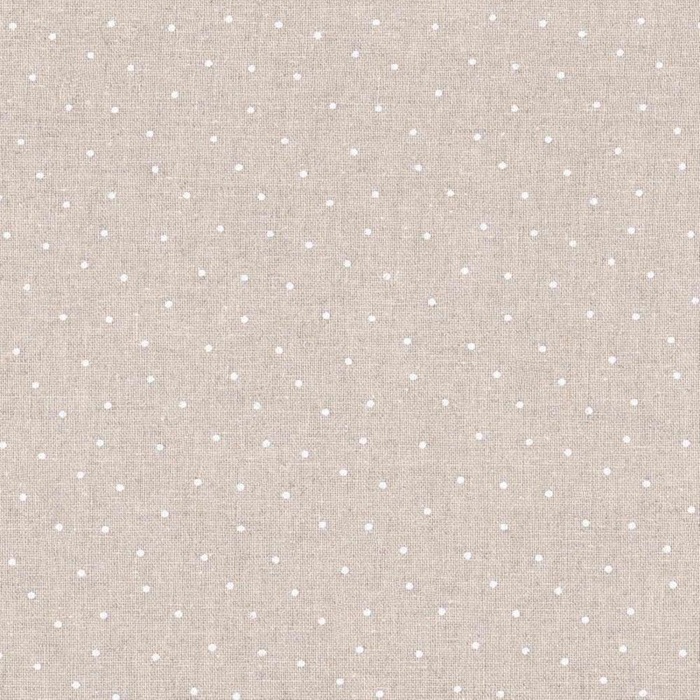 Tessuto Shabby Chic Stoffa A Pois Bianchi Mistolino Cm 50 X 150