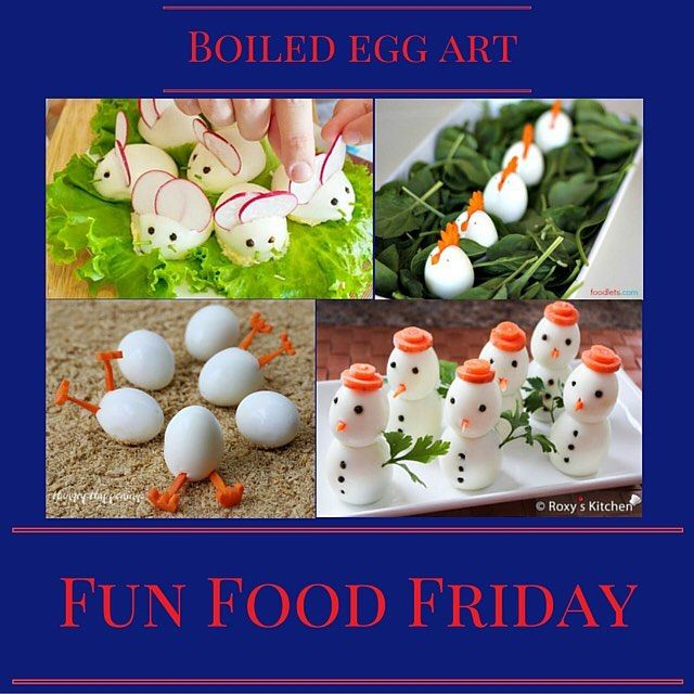 Have some fun with boiled eggs for this Fun Food Friday.  #Familyfun #saturday #funfood #funfoodfriday #funfoodforkids #creativekids #momsofinstagram #homeschool #timewithfamily #922saturdays #playdatefun #playdate #timewithkids #momlife