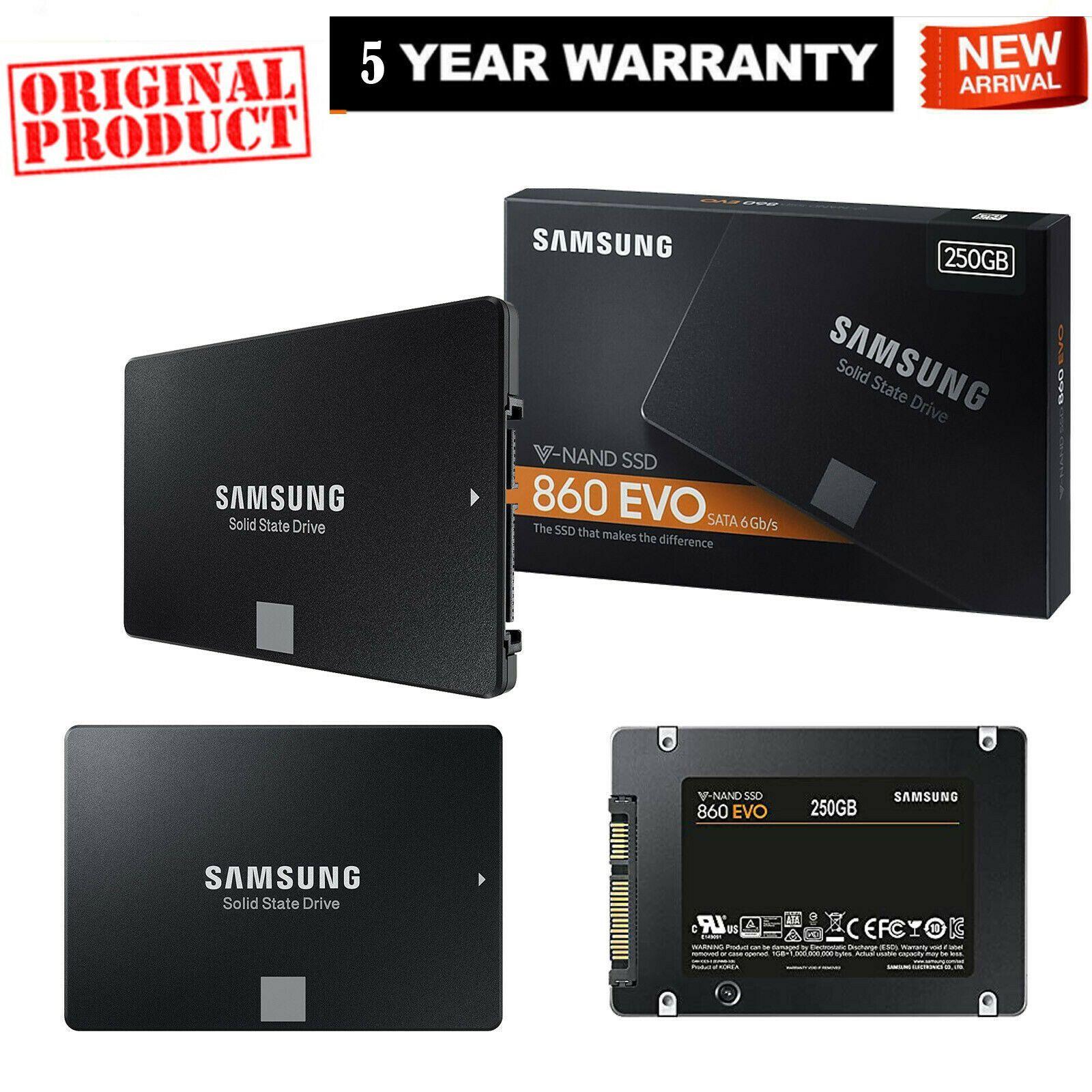"SAMSUNG 250GB 2.5"" 860 EVO SSD INTERNAL SATA III SSD (With"