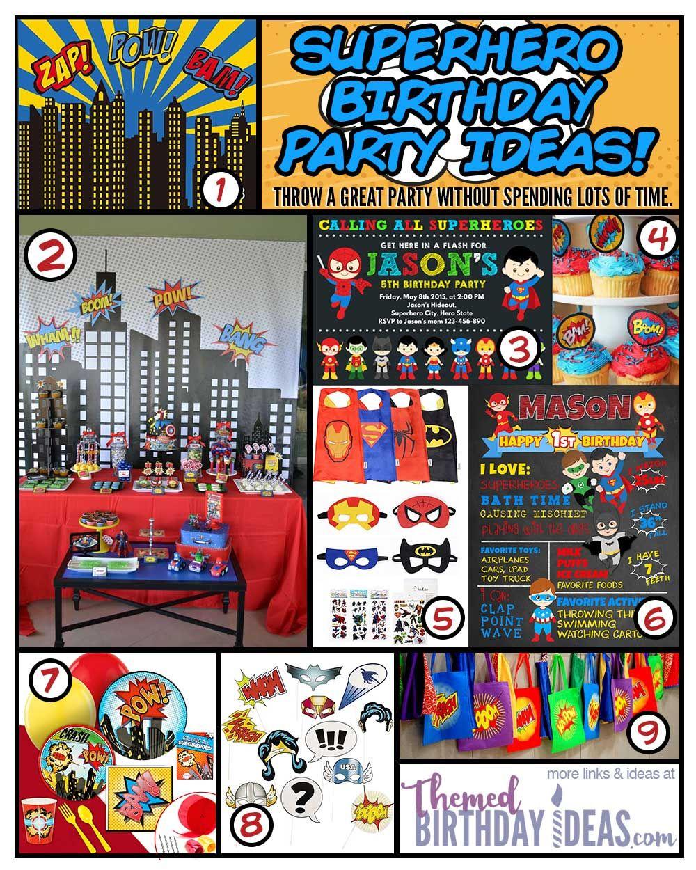 Boy S Superhero Birthday Party Ideas Superhero Birthday Party