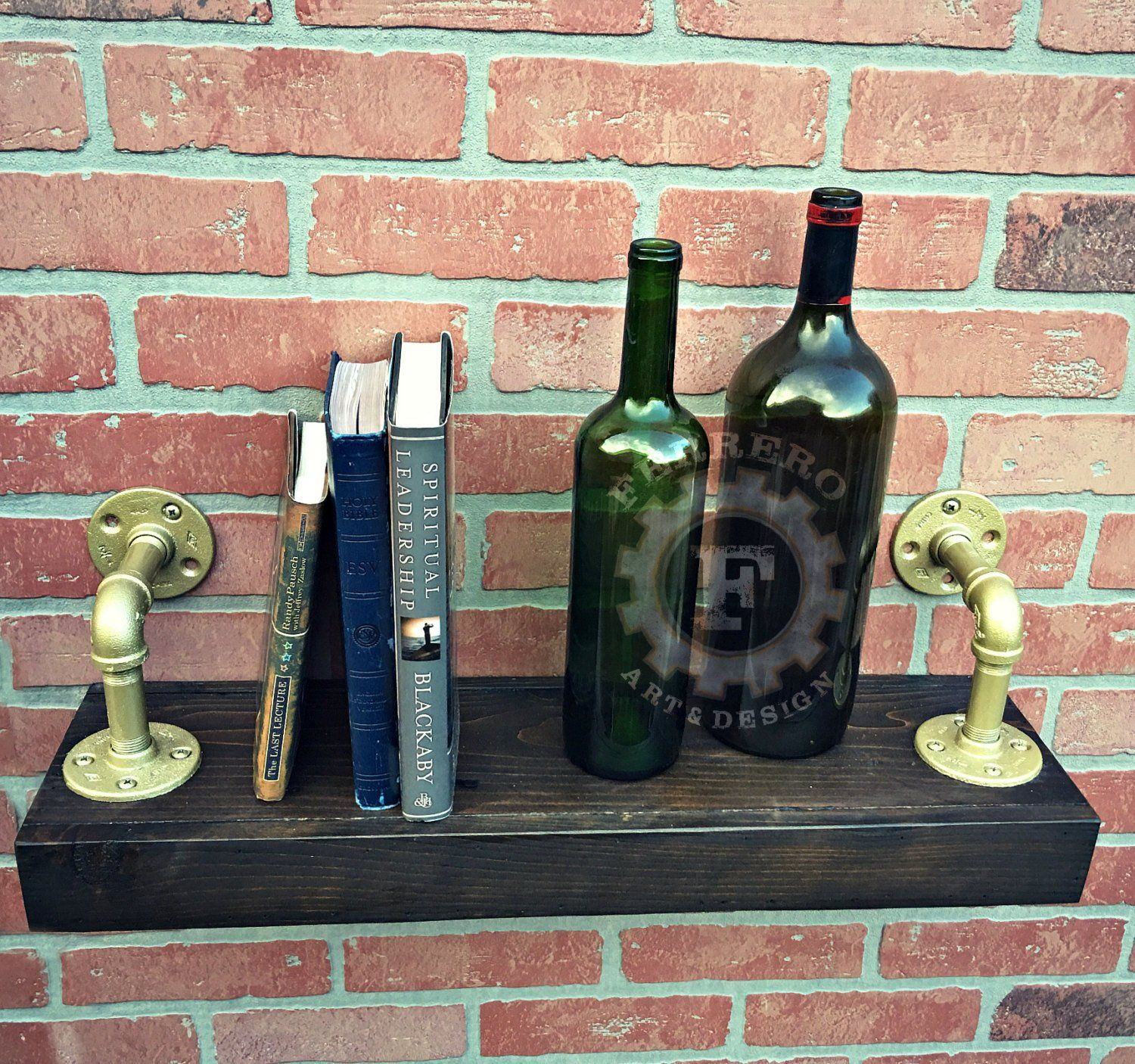 Industrial Shelf, Steampunk Shelf, Rustic Shelf, Pipe Shelf, Wood Shelf,