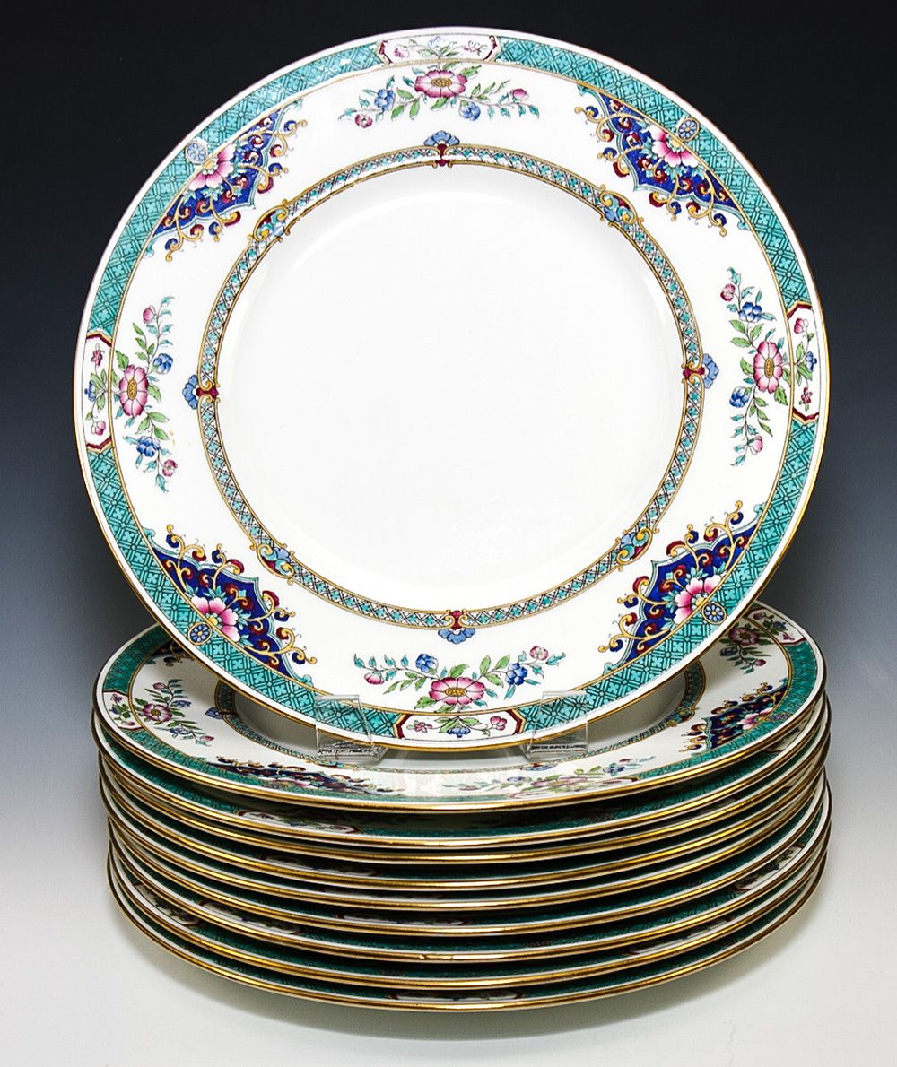 Beautiful Nearly Antique c.1917 Set of Minton Imari Dinner Plates from antiques-  sc 1 st  Pinterest & Beautiful Antique c. 1917 Set of Minton Imari 10pc Dinner Plates ...