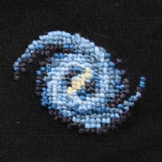 Carl Sagan cross stitch square