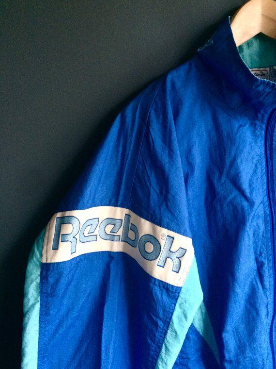 476103ecce864 80s Reebok Windbreaker Jacket Vintage Reebok by BunLoveOneLove ...